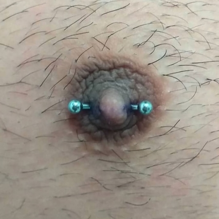 Piercing Pezón horizontal