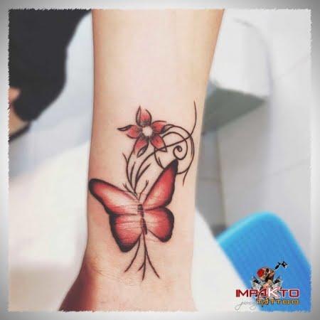 Tatuaje Acuarela Mariposa