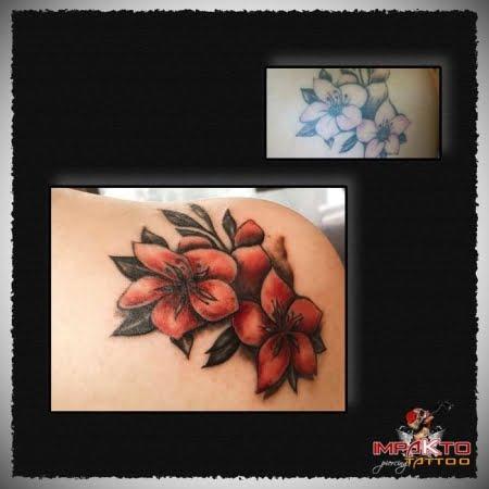 Tatuaje Coverup Flores