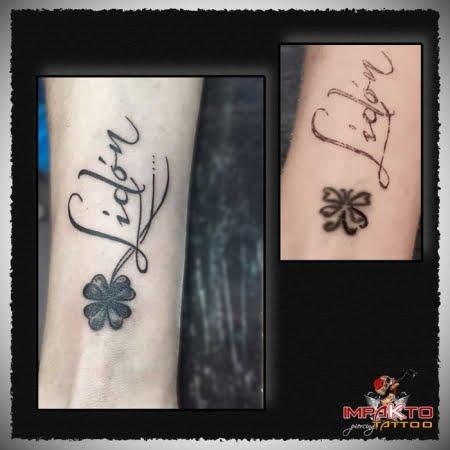 Tatuaje Coverup Trébol