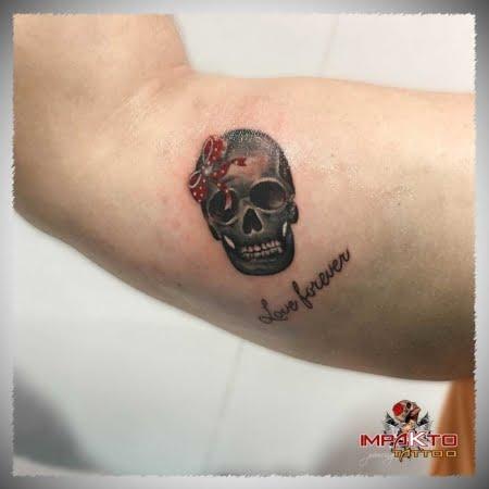Tatuaje Realista Cráneo