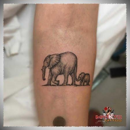 Tatuaje Realista Elefante