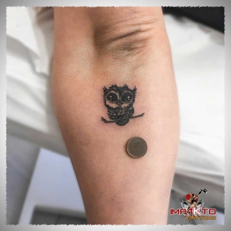 Tatuaje Realista Mochuelo